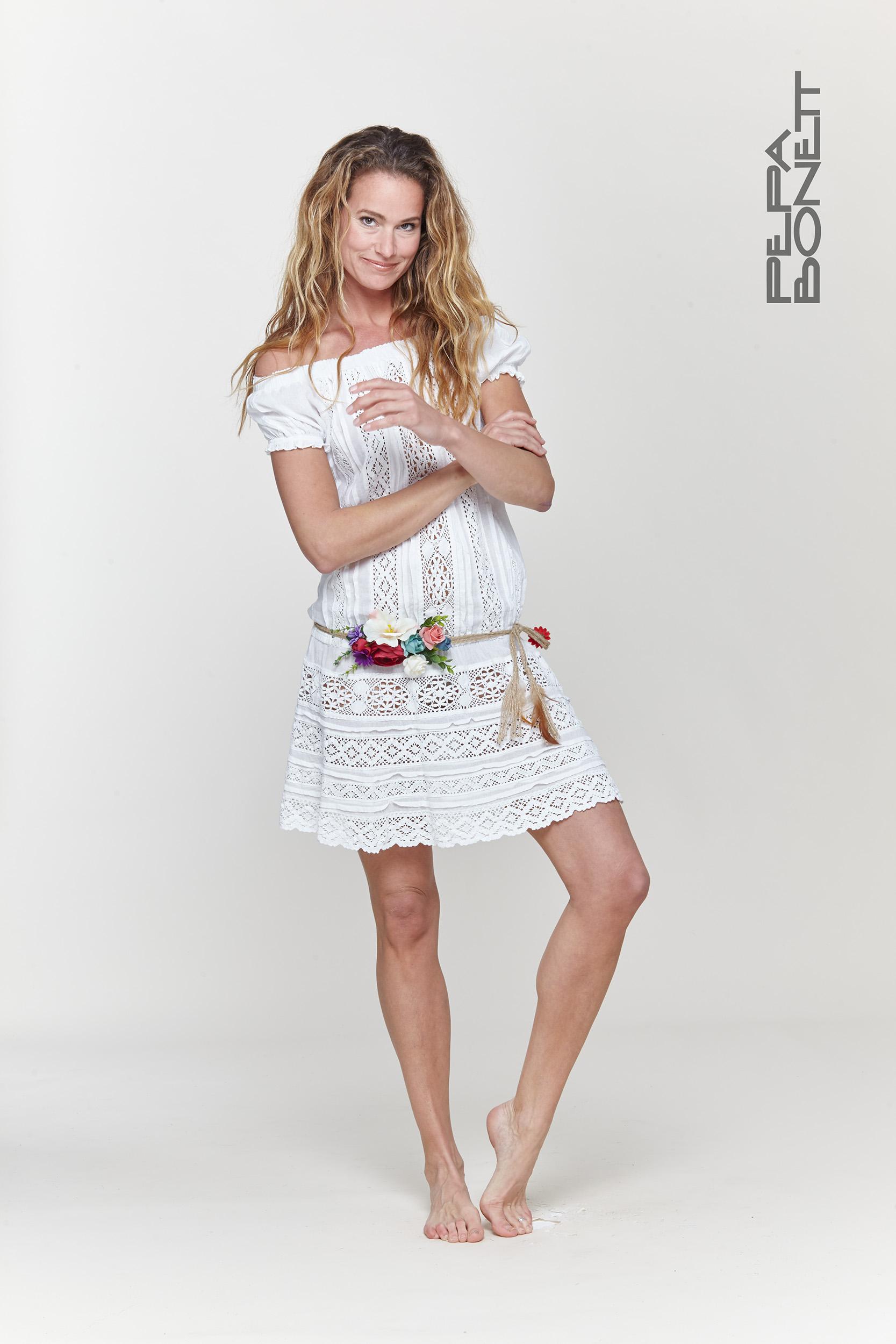 Vestidos sara blanco leganes